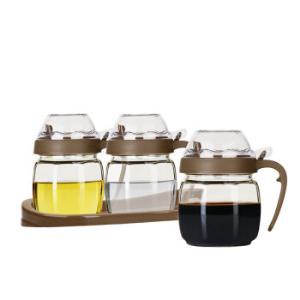 金熊420ML高白料三组玲珑油壶酱油醋瓶调味罐调料盒JC411*7件 109.3元(合15.61元/件)
