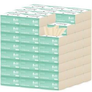 桔子姑娘本色纸整箱纸巾家庭家用实惠装餐巾纸面巾纸卫生纸抽80抽*10包/提 9.9元(需用券)