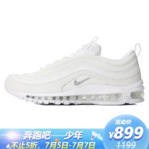 耐克NIKE男子板鞋\复刻鞋NIKEAIRMAX97运动鞋921826-101白色42码 899元