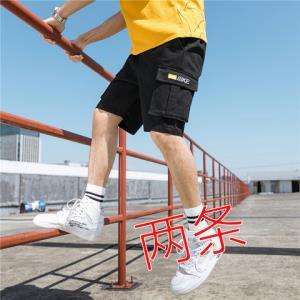 夏季男运动短裤宽松大码五分裤中青年跑步宽松百搭中裤松紧裤薄19.9元