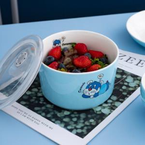 京东PLUS会员:��州�|�M 新骨瓷卡通色釉碗盘套装 5.5英寸 2只装 17.9元包邮(多重优惠)