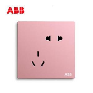 ABB开关插座轩致克里特粉色无框五孔插座86型墙壁AF克里特粉CP 31.9元(需用券)
