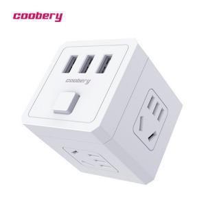 酷博睿(coobery)魔方插座有USB接口版无线多功能电源转换器插头带开关家用扩展一转多排插 34.9元