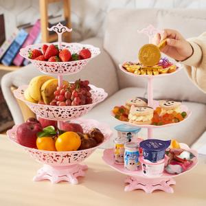 蔓洁丽三层水果盘蛋糕托盘 5.8元包邮(需用券)