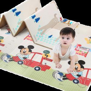 迪士尼爬行垫折叠双面XPE加厚宝宝婴儿爬爬垫防滑儿童地垫游戏毯 78元