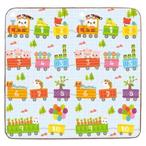 多喜兔儿童玩具XPE材质双包加厚婴儿童爬行垫环保无异味防滑防潮趣味公路+嘟嘟小火车180*150*1.0 28.8元