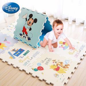 Disney迪士尼爬行垫拼接XPE58x58厚2cm9片装 186元(需用券)