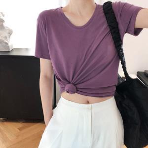 FastShape短袖t恤女2020夏季新款宽松百搭铜氨丝体恤上衣打底衫    94元(需用券)