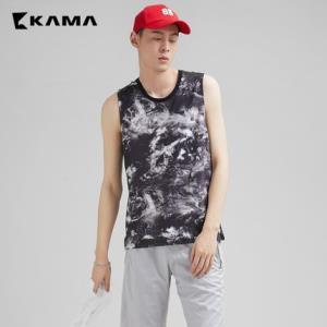 KAMA卡玛2218904男装无袖扎染背心 19元