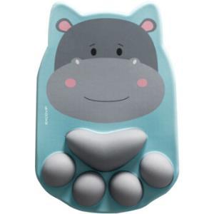 宜适酷(EXCO)猫爪鼠标垫护腕超大号可爱卡通动漫萌物腕托硅胶垫STY1806河马先生 46.9元(需用券)