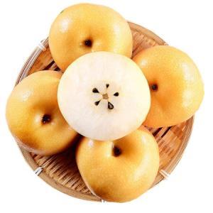 丰水梨山东莱阳脆甜多汁新鲜黄金梨水果非汤山梨带箱5斤 12.9元