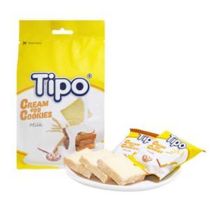 Tipo面包干越南进口零食早餐酥性饼干办公室休闲糕点生日礼物牛奶味面包干135g*3袋*4件 116.6元(合29.15元/件)
