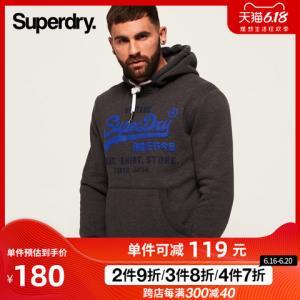 Superdry极度干燥SM20004NSK3男士连帽加绒卫衣 209.3元