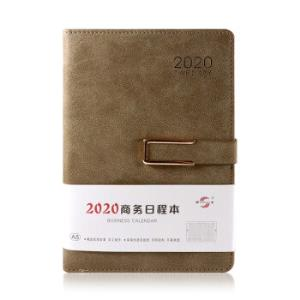 申士SHENSHI2020年日程本笔记本子加厚计划记事本日记本羊巴磨皮双包日历本J02020-F25A5/25K卡其色*4件    56元(合14元/件)