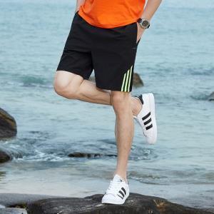 木林森(MULINSEN)男潮宽松短裤三条杠夏季运动速干短裤户外休闲裤 29.9元(需用券)