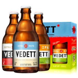 VEDETT/白熊比利时原装进口精酿啤酒白熊啤酒组合装*7件 273元(需用券,合39元/件)