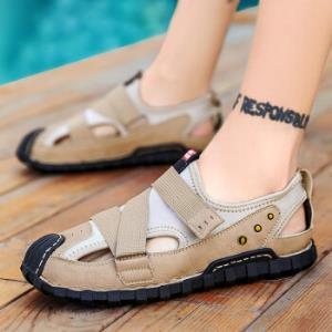 MoeRa2020夏季新款休闲户外潮流大码男士凉鞋沙色39    98元包邮