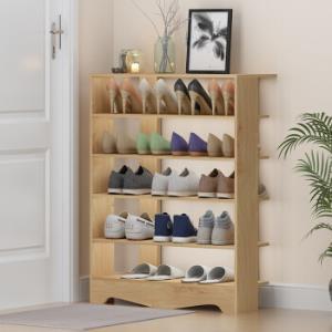 家乐铭品鞋架简易鞋架多层加宽置物架玄关隔断鞋柜防尘置物架-木纹色L1150S*3件