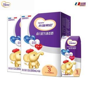 法国原装进口优博布瑞弗尼3段幼儿配方液态奶200ml*6*2箱
