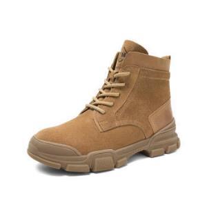 Teenmix/天美意英伦休闲工装风绒面情侣马丁靴短靴男女皮靴618SDDD9棕色38*2件549.2元(合274.6元/件)