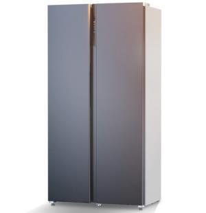 JIWU苏宁极物小BIu系列JSE5228LP对开门冰箱520L炫空银 1499元