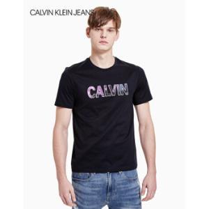 CKJEANS2020春夏款男装纯棉Logo圆领短袖T恤J315398CHW-藏青色XL*6件1760元(合293.33元/件)