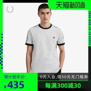 FREDPERRY男士T恤2020夏装新款时尚潮流休闲圆领短袖体恤M6347 435元