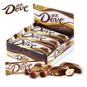Dove德芙巧克力清新水果味白巧43g*12块装    63.5元