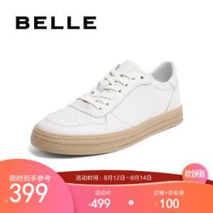 BELLE/百丽休闲鞋男2020春皮鞋时尚撞色81620AM0白色40 374.05元