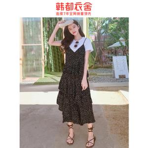 HSTYLE韩都衣舍OM60684夏季宽松气质打底连衣裙 74.5元