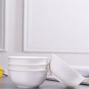 4个装景德镇陶瓷碗6英寸面碗家用大饭碗面碗陶瓷餐具金钟碗    35元