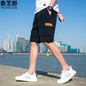 泰芝郎夏季男士迷彩短裤工装五分裤子休闲运动潮流宽松沙滩大裤衩 39元