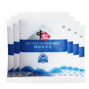 中盐加碘食用盐400g*6包 6.1元包邮