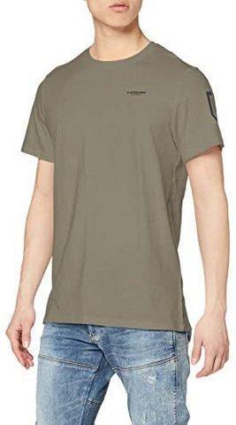G-STARRAW男士袖子盾牌印花直筒T恤122.34元
