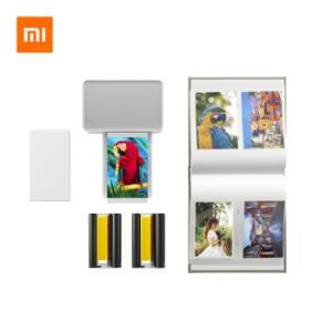 20点:MIJIA米家ZPDYJ01HT小米照片打印机相纸+色带+相册套装版599元(需用券)