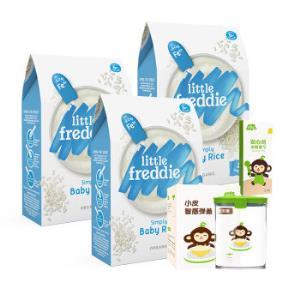 LittleFreddie小皮婴儿辅食原味有机大米粉礼盒装+凑单品