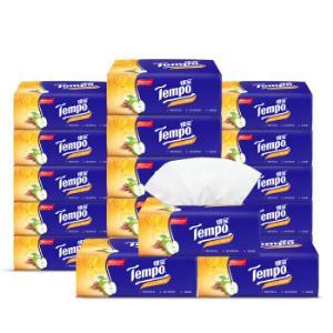 得宝(Tempo)抽纸4层90抽*18包面巾纸餐纸巾苹果木味(整箱销售)*3件