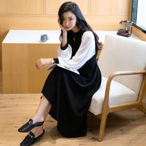 秋季新款韩版时尚气质百搭修身显瘦长袖轻熟风连衣裙    179元
