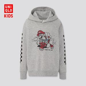 优衣库童装/男童/女童(UT)Mario连帽运动衫(长袖卫衣)425182 79元
