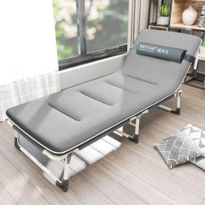 RESTAR瑞仕达折叠床圆管-黑灰色+水晶绒棉垫 123元(需用券)