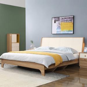 M&Z掌上明珠家居BS137北欧简约床板式单床1800*2000mm 1499元包邮(双重优惠)