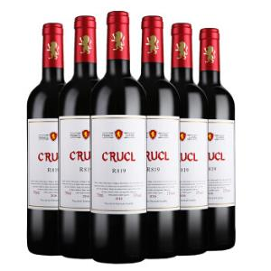 罗莎萄客R819干红葡萄酒750ml*6瓶整箱装西班牙进口红酒*3件354.45元(合118.15元/件)
