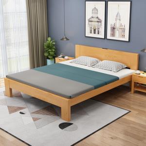 喜视美现代简约松木床北欧小户型实木床现代简约双人床 999元(需用券)