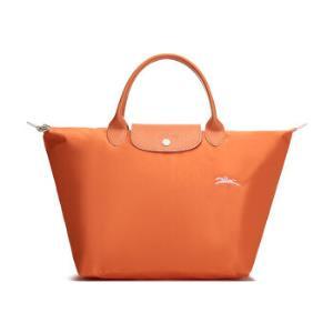 珑骧LONGCHAMP2020春夏女士LEPLIAGE系列织物短柄可折叠手提包饺子包橙色中号1623619P34798元