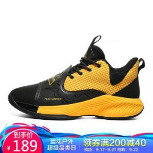 匹克(PEAK)男篮球鞋实战球鞋外场战靴防滑耐磨运动鞋E01221A黑色/深橙黄42*2件 388元(合194元/件)