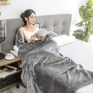 京东京造法兰绒毯子超柔毛毯午睡空调毯加厚床单150x200cm高级灰 59元(需用券)
