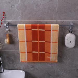 双庆毛巾架免打孔浴室毛巾杆吸盘浴巾架浴室挂架太空铝银色单杆*3件    83.79元(合27.93元/件)