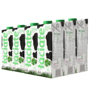 波兰进口Laciate高温灭菌脱脂牛奶1L*12盒 89元