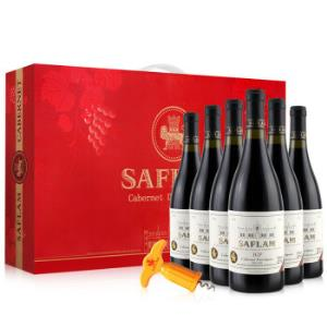 西夫拉姆IGP精品赤霞珠干红葡萄酒750ml*6瓶手提装法国进口红酒*3件225.6元(合75.2元/件)