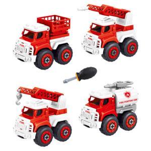 OMKHE中号惯性消防车车4只套装17.9元包邮(需用券)